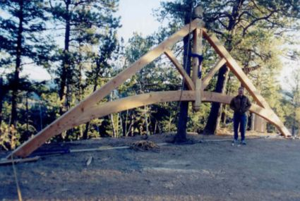 Arched Entryway Truss
